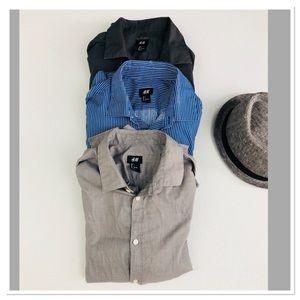 H&M Easy Iron Dress Shirts Men's Button-up bundle